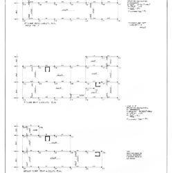 Beam and column plans.