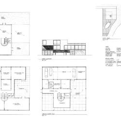 Site plan, plans, and elevation.