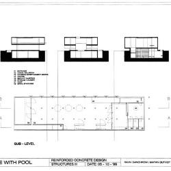 Sections and sub level plan.