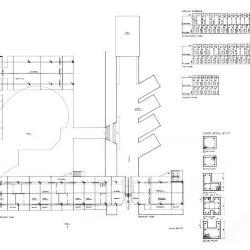 Second floor plans, column details/schedule.