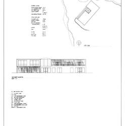 Site plan and elevation.