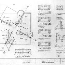 Typical floor plan, schedules and calculations.