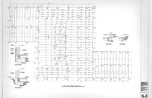 Lobby framing plan and details.