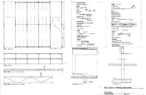 Plan, section, details and calculations.