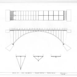 Plan, elevation and section.
