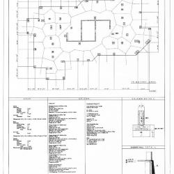 Tributary area, columns,  details and calculations.