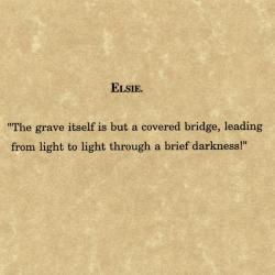 Elsie's quote.