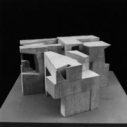 Model, study of detail spaces to be studied with a video camera.