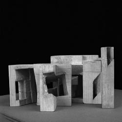 Final model, library, elevation view.