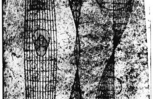 Engraving: Projections of an Imaginary landscape, three mental picture planes, locality #1, #2 and #3