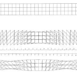 Top to bottom: Datum, basic grid; run one, horizontal; run two, vertical.