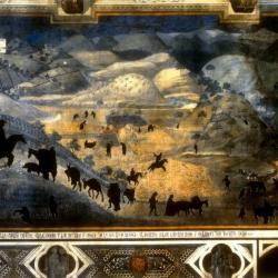 """Black Death Citizenry #2 , Ambrogio Lorenzetti's """"City of Good Government,"""" 1338."""