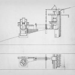Section and plan.