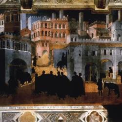 """Black Death Citizenry #1 , Ambrogio Lorenzetti's """"City of Good Government,"""" 1338."""