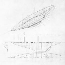 Axonometric, section, partial plan.