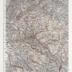 Old map of Sarajevo 1930, updated 1959.