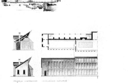 Elevations, plans and sections.