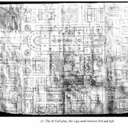 Plan of St. Gall by Walter William Horn.