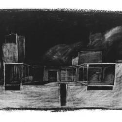 Charcoal section drawing.