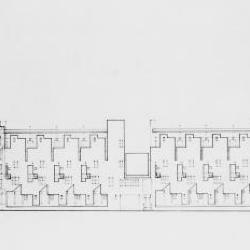 South elevation of projected block.