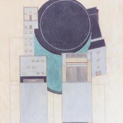 Presentation II: preliminary design, axonometric- theaters