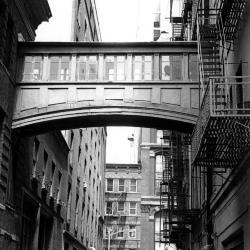 Site study, Staple Street - overhead bridge.