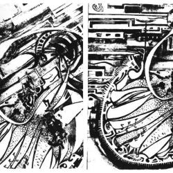 Stages of the myth, top: new moon, bottom: full moon.