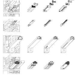 Highrise Housing, axonometric.