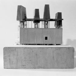 Model, elevation view.